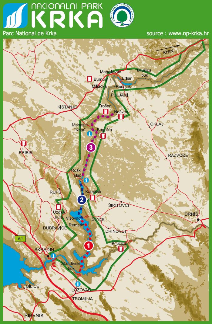 Plan Du Parc National De Krka
